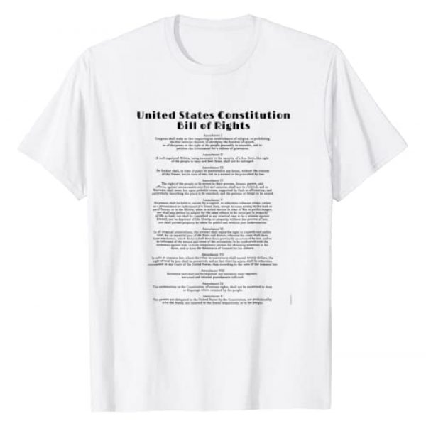 US Constitution Tshirts BY SCAREBABY Graphic Tshirt 1 BILL OF RIGHTS T-SHIRT US CONSTITUTION