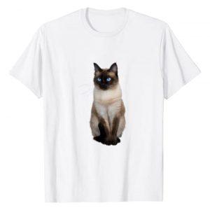 Siamese Cat T-Shirts Graphic Tshirt 1 Siamese Cat T-Shirt