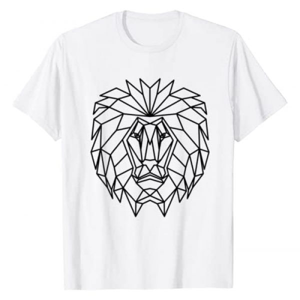 Low Poly Graphic Tshirt 1 Lion Head - King of Africa T-Shirt