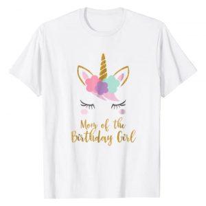 Unicorn Mom T-Shirt Gifts Graphic Tshirt 1 Cute Unicorn Mom Shirt, Mom of the Birthday Girl T-Shirt