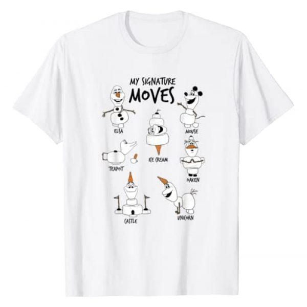 Disney Graphic Tshirt 1 Frozen 2 Olaf My Signature Moves T-Shirt