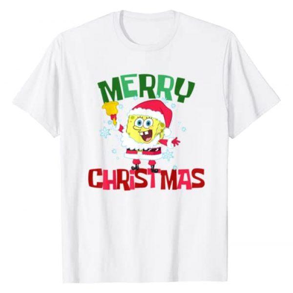 SpongeBob SquarePants Graphic Tshirt 1 Santa Outfit Merry Christmas T-Shirt