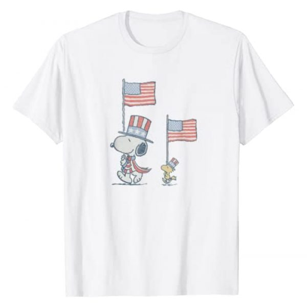 Peanuts Graphic Tshirt 1 Snoopy WoodStock March T-Shirt