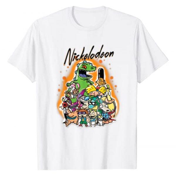 Nickelodeon Graphic Tshirt 1 Classic Nick 90s Urban Spray Paint Character Tee
