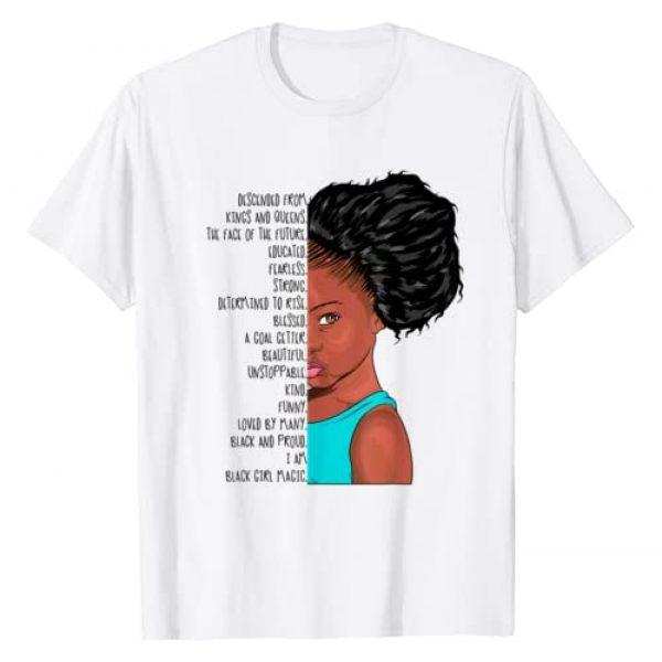 Black Queens NYC Graphic Tshirt 1 I AM Black Girl Magic Anthem Shirt Afro Puff Kids Queen Rise T-Shirt