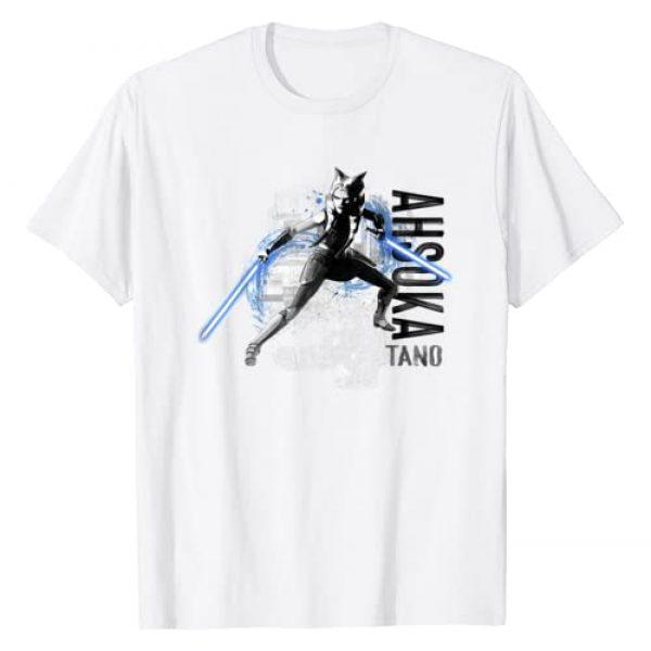 Star Wars Graphic Tshirt 1 The Clone Wars Ahsoka Tano Lightsaber Action T-Shirt