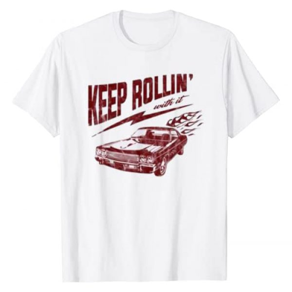 Funny Motivational Car Style Tee Shirt Graphic Tshirt 1 Funny Keep Rollin with it Cute T-Shirt For Men Women