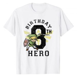 Legend of Zelda Graphic Tshirt 1 Link 8th Birthday Hero Triforce Logo T-Shirt