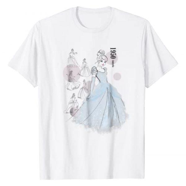 Disney Graphic Tshirt 1 Cinderella 1950 Vintage Fashion Sketch Poses T-Shirt