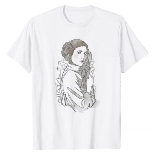 Star Wars Graphic Tshirt 1 Princess Leia Geometric Line Drawing T-Shirt