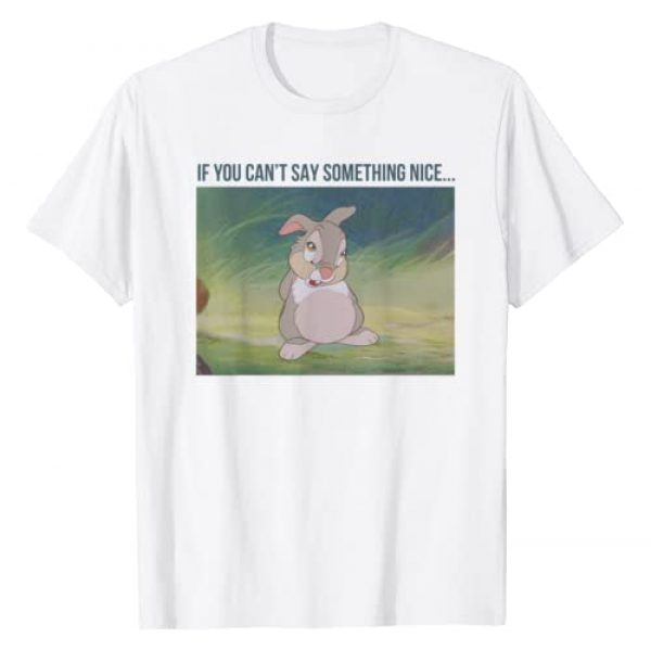 Disney Graphic Tshirt 1 Bambi Thumper If You Can't Say Something Nice T-Shirt