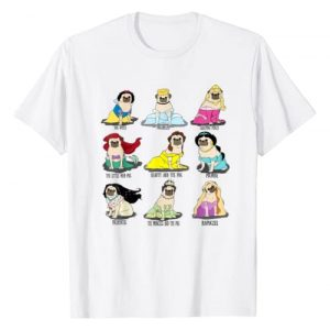 Funny Pug Princess Tee Shirt Graphic Tshirt 1 Princess Pug T-Shirt