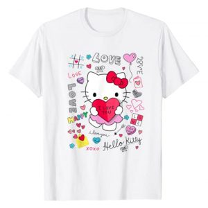 Hello Kitty Graphic Tshirt 1 Love Notes Valentine Tee Shirt