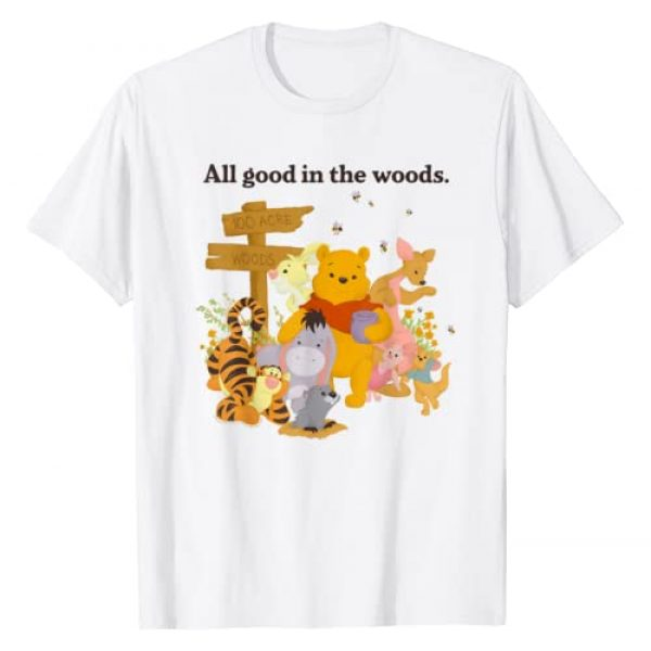 Disney Graphic Tshirt 1 Winnie The Pooh Group Shot All Good In The Woods T-Shirt