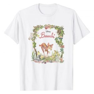 Disney Graphic Tshirt 1 Bambi Floral Portrait T-Shirt