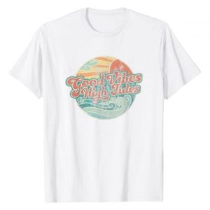 Groovy Summertime Apparel Co. Graphic Tshirt 1 Good Vibes High Tides Retro 60s Faded Summer T-Shirt