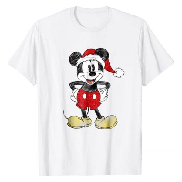 Disney Graphic Tshirt 1 Santa Mickey Mouse Christmas T Shirt