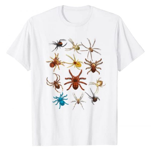 Cool Spooky Types Of Spiders T-shirts Graphic Tshirt 1 Funny Spiders Shirt | Cute Halloween Scary Spiders Tee Gift