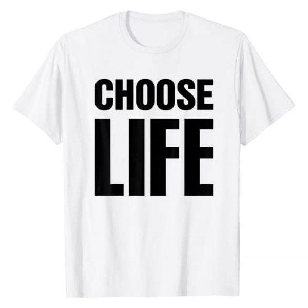 Choose Life Official Graphic Tshirt 1 CHOOSE LIFE 80s Retro Vintage T-Shirt