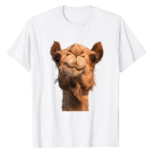 Animals Tee Shirts Graphic Tshirt 1 Camel Animal Face T-Shirt