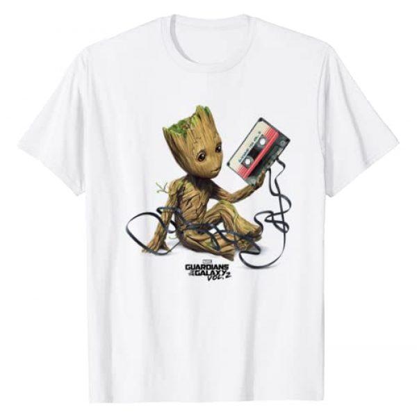 Marvel Graphic Tshirt 1 Guardians Of The Galaxy Vol. 2 Groot Tape Portrait T-Shirt
