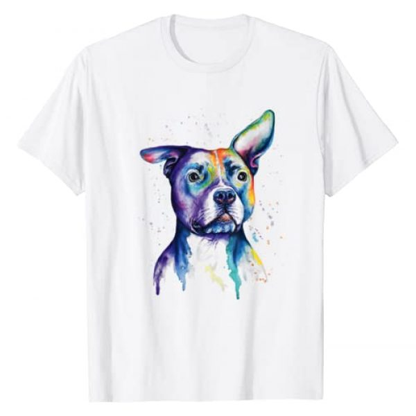 KNG-Art American Pitty Puppy Pet Ever Costumes Graphic Tshirt 1 Colorful Pit-bull Terrier Dog Love-r Dad Mom, Boy Girl Funny T-Shirt