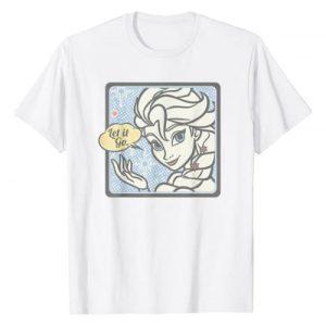 Disney Graphic Tshirt 1 Frozen Elsa Let It Go Tonal Stamp Graphic T-Shirt