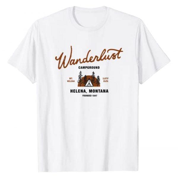 Wanderlust Campground Montana Gear Graphic Tshirt 1 Wanderlust Campground T-Shirt