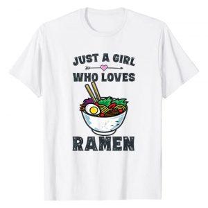 Ramen Shirts by MV&SG Graphic Tshirt 1 Funny Japanese Ramen Noodles Shirt Girls Anime Lovers Gifts T-Shirt