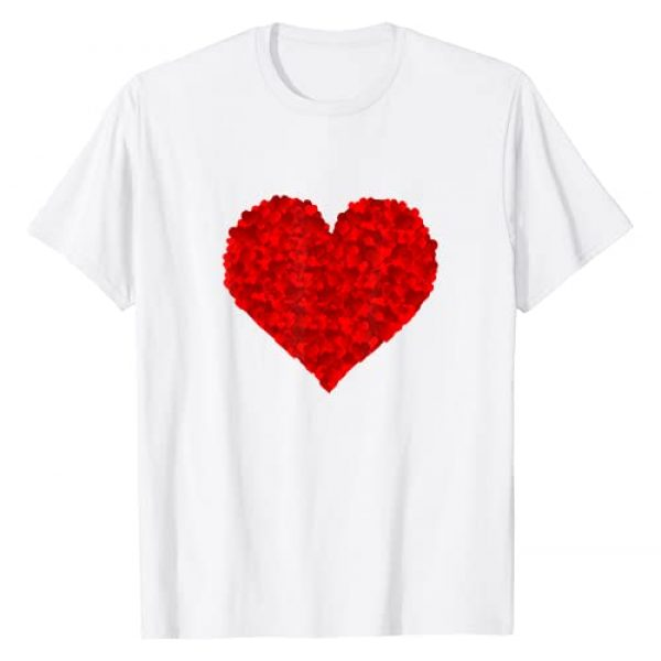 Red Heart Love Valentines Gifts Him Her Graphic Tshirt 1 Red Heart Love Valentines Gift for Girlfriend Women Him Her T-Shirt