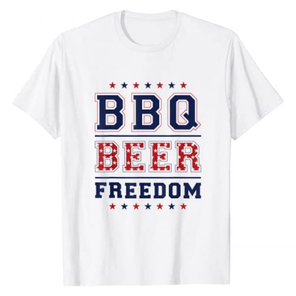 BBQ Beer & Freedom Gifts Graphic Tshirt 1 BBQ Beer Freedom T-Shirt