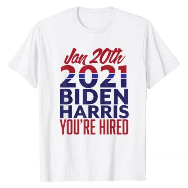 Pro Biden Harris 2021 Graphic Tshirt 1 Biden Harris Hired 2021 T-Shirt
