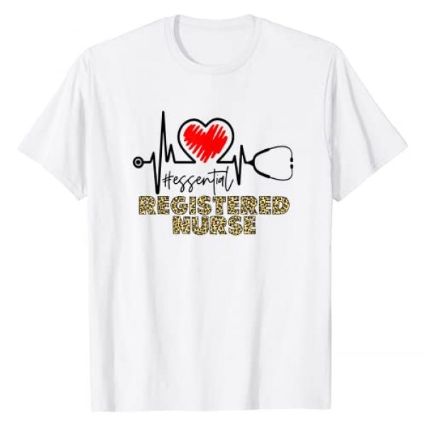 Essential Registered Nurse Graphic Tshirt 1 Essential Worker Nursing Leopard T-Shirt