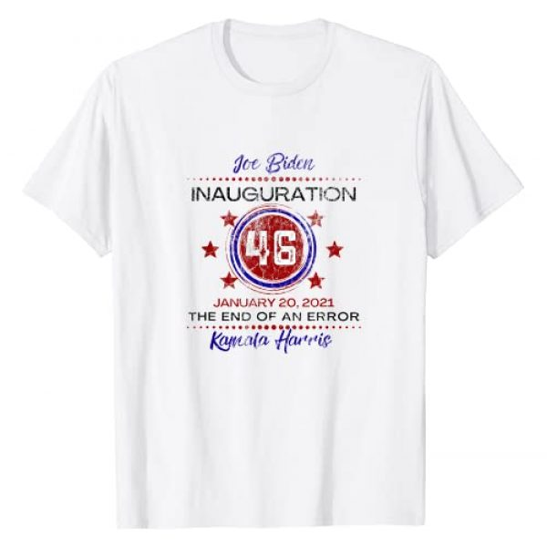 Biden Harris Inauguration Designs Graphic Tshirt 1 Joe Biden Inauguration The End of An Error Vintage Look T-Shirt