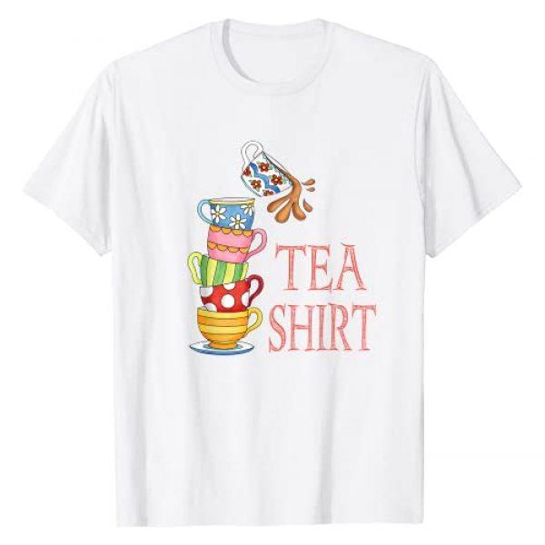 TeaTime Graphic Tshirt 1 TEA SHIRT PUN Cute And Fun Teacups In A Tall Pile Of Cups T-Shirt
