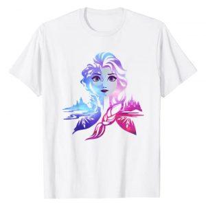 Disney Graphic Tshirt 1 Frozen 2 Elsa Two Tone Gradient Portrait T-Shirt