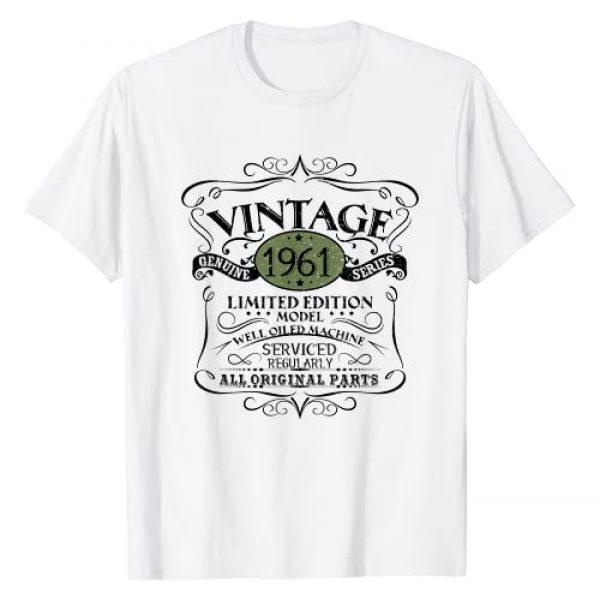 1961 Birthday Funny Creative Designs Graphic Tshirt 1 Vintage 1961 60th Birthday Gift Men Women Original Design T-Shirt