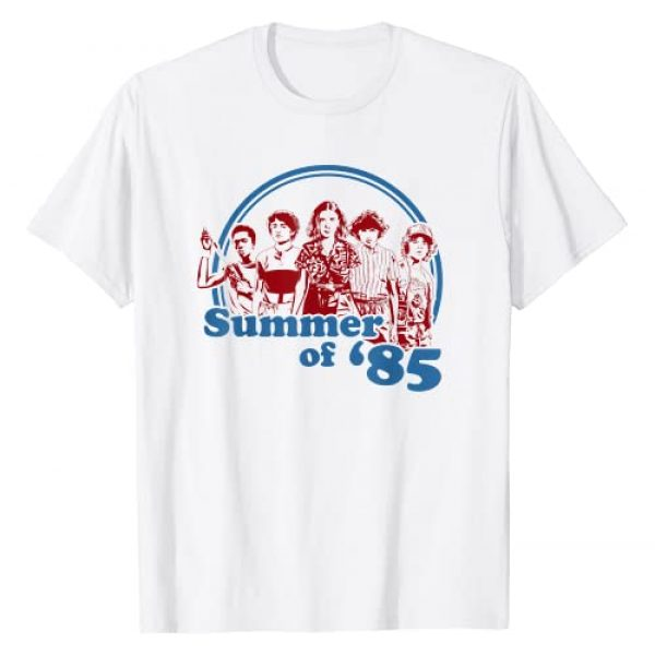 Stranger Things Graphic Tshirt 1 Netflix Stranger Things Summer Of '85 Group Shot T-Shirt