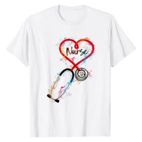Cute Nurse Apparel Nurse Life Scrub Life Nursing Graphic Tshirt 1 Watercol Nurse Life Nursing Clinical Funny Birthday Gift T-Shirt