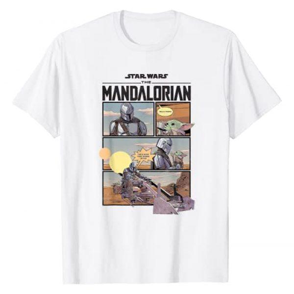 Star Wars Graphic Tshirt 1 The Mandalorian Comic Panels T-Shirt