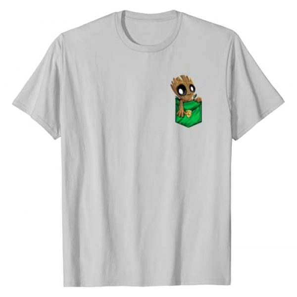 Marvel Graphic Tshirt 1 Groot Left Chest Pocket Graphic T-Shirt