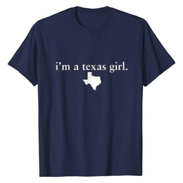VISHTEA Graphic Tshirt 1 Texas Girl Tshirt I Love Texas Tee Texas State Home Tee