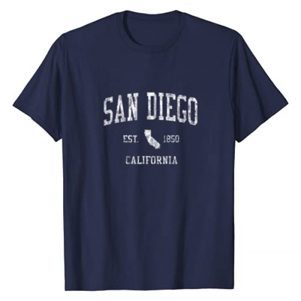 San Diego T-Shirts and Tees Graphic Tshirt 1 San Diego California T-Shirt Vintage Sports Design SD CA Tee