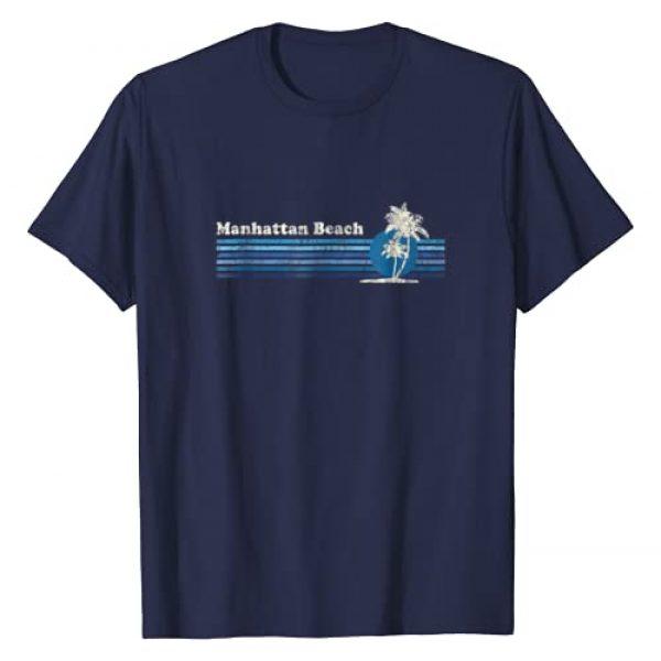 Retro Manhattan Beach CA T-Shirts & Tees Graphic Tshirt 1 Manhattan Beach CA T-Shirt Vintage 80s Palm Trees Sunset Tee