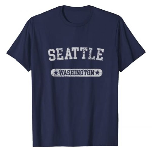 VISHTEA Graphic Tshirt 1 Washington State Home T-shirt I Love Evergreen State Seattle