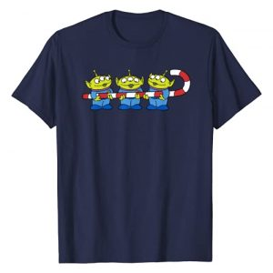 Disney Graphic Tshirt 1 Pixar Toy Story Aliens Candy Cane Holiday T-Shirt