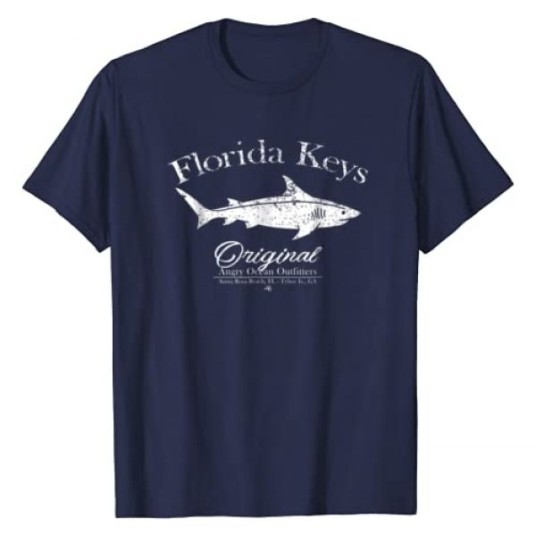 Angry Ocean Outfitters Graphic Tshirt 1 Florida Keys T Shirt Shark Key West Marathon Key Largo Tee