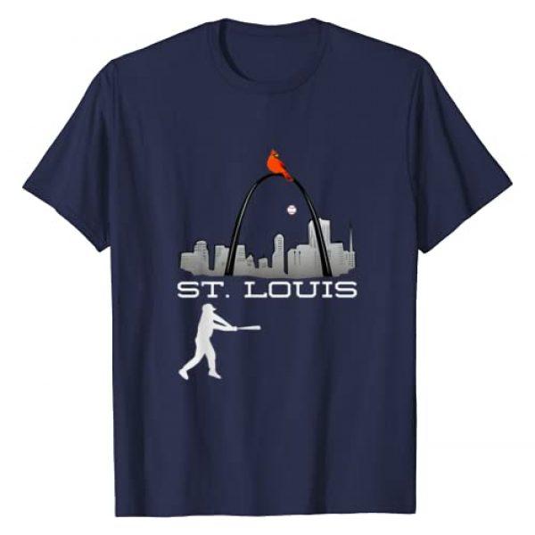 Sport City Tees Graphic Tshirt 1 Saint Louis Red Cardinal Tshirt Skyline Baseball Player