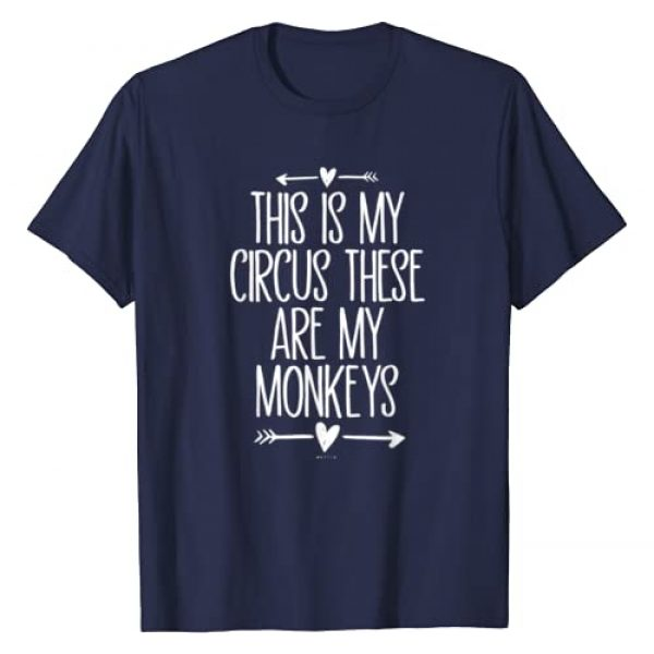 Funny Saying Novelty Gift NELLIA Graphic Tshirt 1 This Is My Circus These Are My Monkeys Funny Mom Arrows T-Shirt