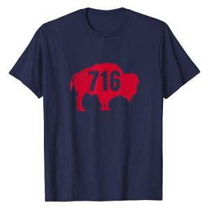 EmmaLoo Tees Buffalo New York BFLO WNY Shirt Graphic Tshirt 1 716 Area Code Buffalo New York BFLO WNY T-Shirt